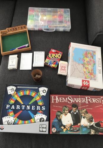 Diverse spil også backgammon